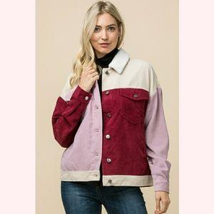Entro Corduroy Color Block Jacket